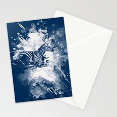 zebra splashed  Stationery Cards