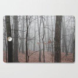 Woods on a Foggy Sunday Stroll Cutting Board
