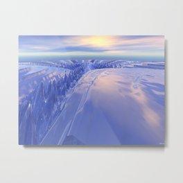 Ice Fissure Metal Print