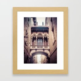 Carrer Del Bisbe Framed Art Print
