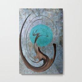Turquoise Moon Metal Print