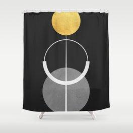 Golden polygon X Shower Curtain