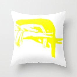Shadow Hand Puppet Illustration Throw Pillow