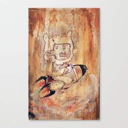 Bunny Rocket Canvas Print