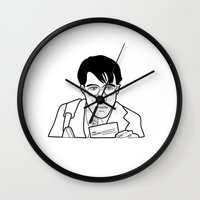 rushmore Wall Clocks featuring MAX FISCHER FROM RUSHMORE by 21871