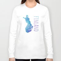 finland Long Sleeve T-shirts featuring Finland by Stephanie Wittenburg