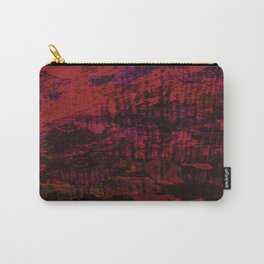 Flora Celeste Ruby Tree Texture Carry-All Pouch