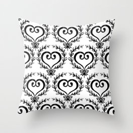 Scrolled Heart Throw Pillow