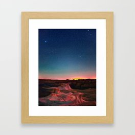Bisti Badlands Hoodoos Under New Mexico Stary Night Framed Art Print