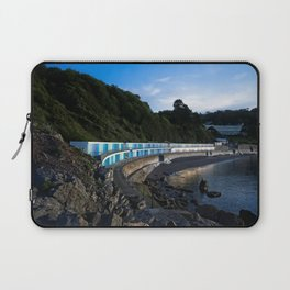 Meadfoot Imposing Cliffs And Beach Huts Laptop Sleeve