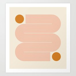 Abstraction_SUN_LINE_ART_Minimalism_002 Art Print