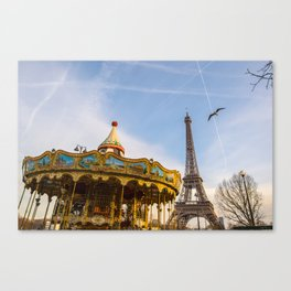 Eiffel Tower / Carrousel - Paris  Canvas Print