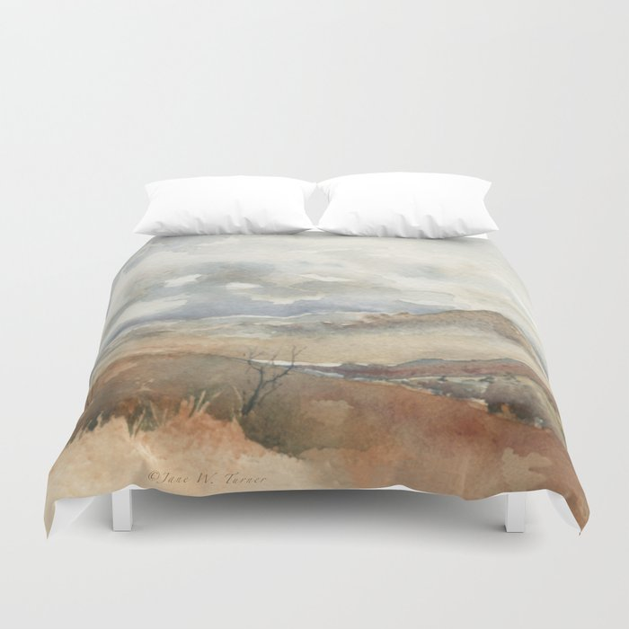 Old Stagecoach route to Nutt Duvet Cover