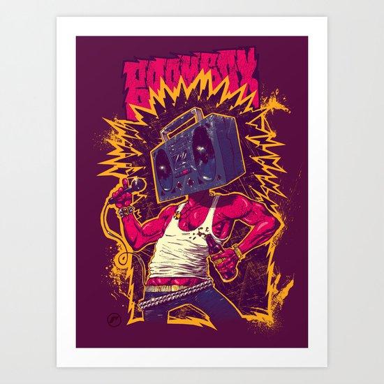 Boom Box Punk Art Print