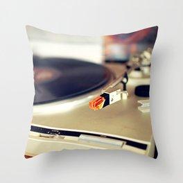 Vinyl Lover Throw Pillow