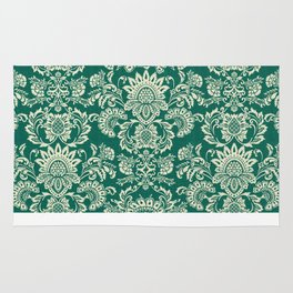 Damask vintage in green Rug