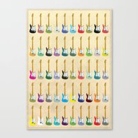 guitar Canvas Prints featuring Guitar by WyattDesign