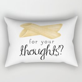 Penne For Your Thoughts? Rectangular Pillow