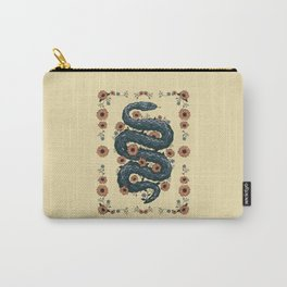 Floral snake (blue) Carry-All Pouch