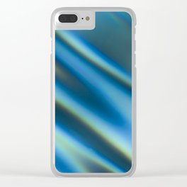 Blue Water Ripples Clear iPhone Case