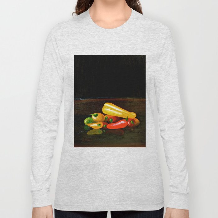 Peppers From a Friend, the painting Long Sleeve T-shirt