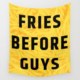 Fries Before Guys (Subtle Halftone) Wall Tapestry