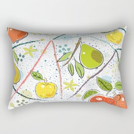 Apples and Pears Rectangular Pillow
