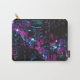 Cyberpunk Vaporwave City Carry-All Pouch
