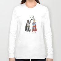 superheros Long Sleeve T-shirts featuring Super Rich by Ian Byers