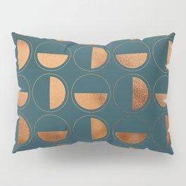 Copper Circles Art Deco on Emerald Pillow Sham