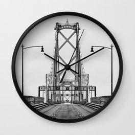 MacDonald Bridge Symmetry Wall Clock