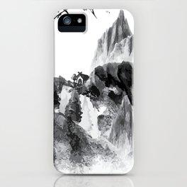 Little Home Mountains Landscape iPhone Case