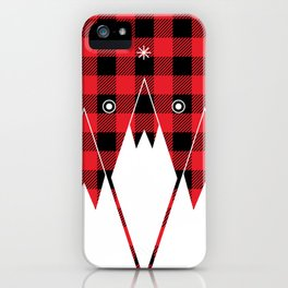 Red Buffalo Plaid Mountains iPhone Case