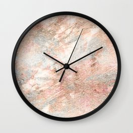 Silver Rose Gold Fusion Wall Clock