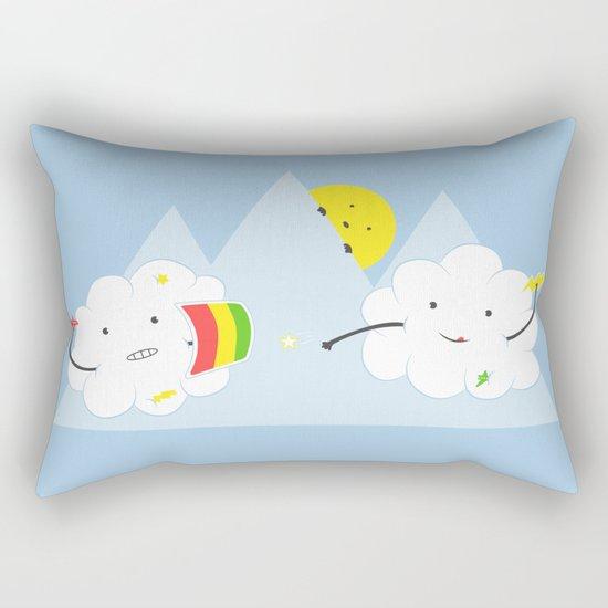 Cloud Fight Rectangular Pillow
