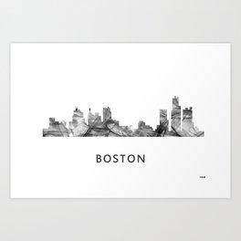 Bostonian Skyline WB BW Art Print
