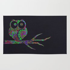 Owl on a branch Rug