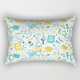 Fight like a girl sisterhood Rectangular Pillow