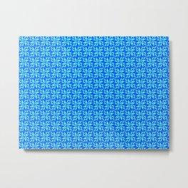 Blue Triangles Metal Print