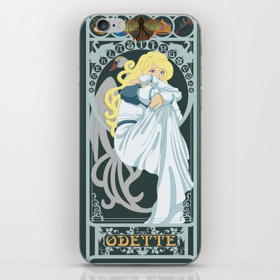 Odette Nouveau - Swan Princess iPhone Skin