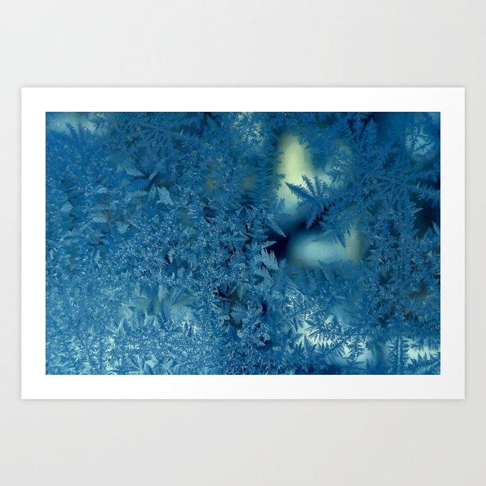 Frost patterns Art Print