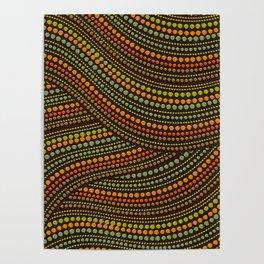 Dot Art Aboriginal Art #1 Poster