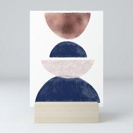 Semicircle Geometric II Art Print Mini Art Print
