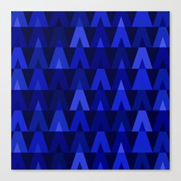 ABSTRACT TRIANGLES | cobalt blue Canvas Print