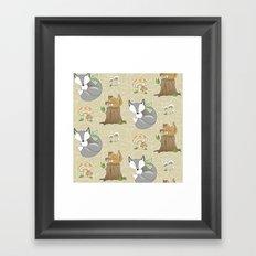 Forest Friends Framed Art Print