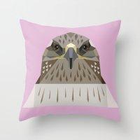 hawk Throw Pillows featuring Hawk by Alysha Dawn