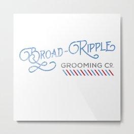 Broad Ripple Grooming Co. Metal Print