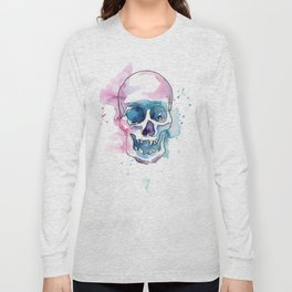 Abstract Skull Watercolor Long Sleeve T-shirt