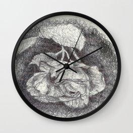 Rose Scribbles Wall Clock
