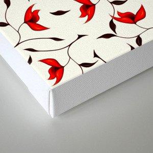 Strange Red Flowers Pattern Canvas Print
